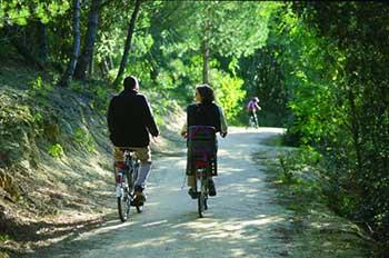 Piste cyclable au pied de la résidence Résid'Azur